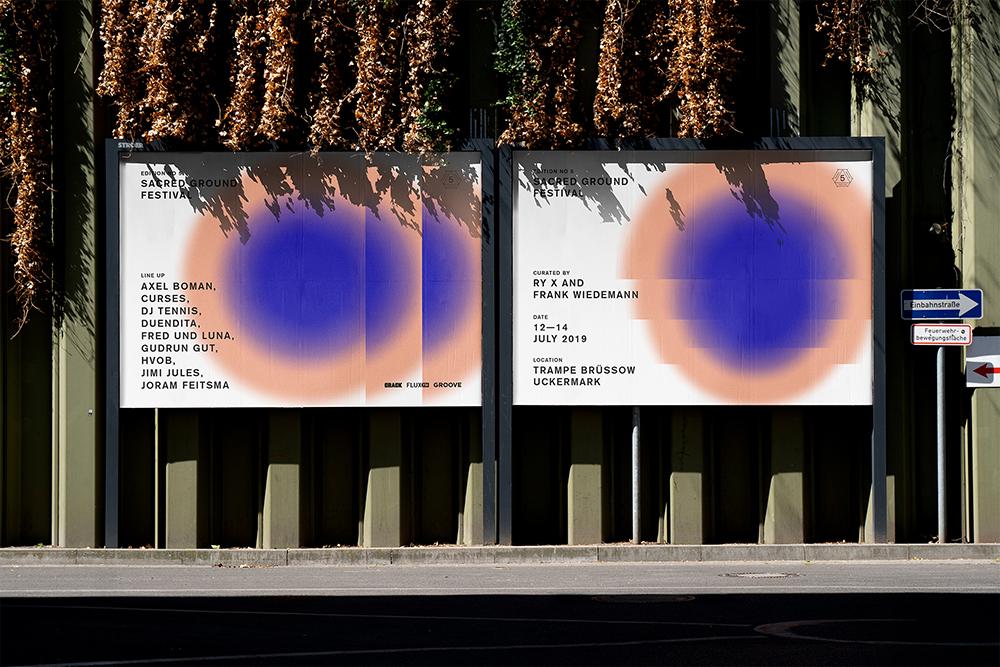 Sacred Ground Festival - Webdesign und Printdesign für Poster