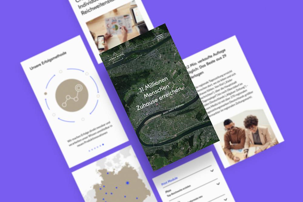 Score Media - Ein Redesign für den Webauftritt mit UI und UX Design